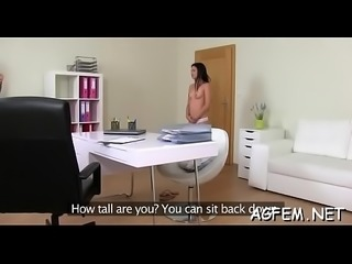Stunning sex with female agent