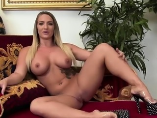 Hot beauties have fun with toys