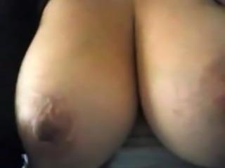 Touching my tits