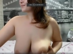 Busty Babe Shoving a Dildo In Her Ass