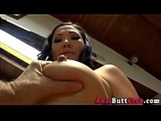 Asian babe booty toyed
