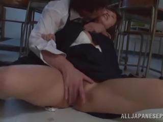 Ardent banging with salacious Japanese college girl Ayumi Kimino