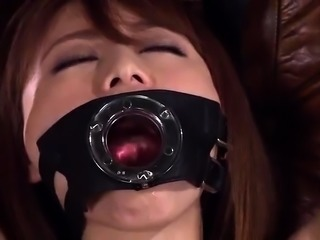 Slutty Asian babe in latex gets nailed hard and facialized