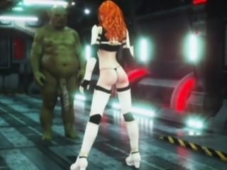 3D Redhead Ruined by Alien Monster!