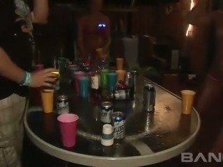 These shameless party sluts love strip beer pong and they are so nasty