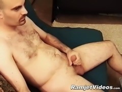 big dicked dude brad enjoys his solo stroking session