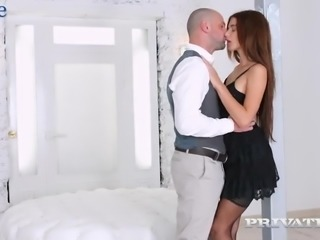 Awesome escort babe Kate Rich gets her Russian pussy fucked from behind
