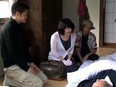 Busty Japanese milf gets her pussy eaten out and fucked good