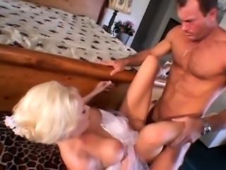 Vicky sucks two big cocks anal double facial