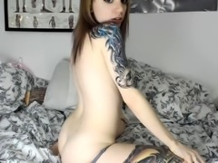 Busty amateur play wet body and masturbates toys on webcam
