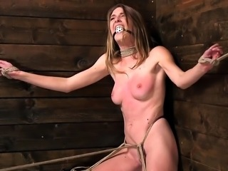 Tied up in corner slave drooling