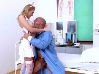 Kinky bootyful nurse Sandriah is totally into riding surgeon's stiff dick