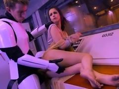Big tits pornstar spanking with cumshot