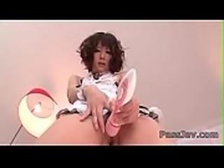 Huge dildo deep in Yurika Miyachi&#039_s wet juicy cunt