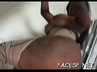 Sexy babe gets her ass licked, sucks schlong and gets a facial