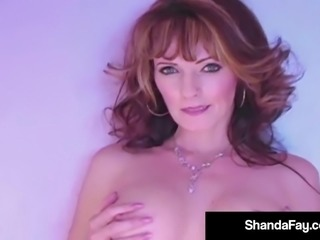 Horny Housewife Shanda Fay Dildo Bangs Pussy In Hot Pants!