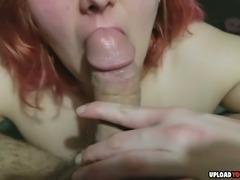 Chubby Redhead Doing A Deepthroat