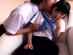 Dazzling Asian teen gets dominated and drilled by horny guys