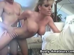 Busty amateur Milf Tera on sucking and fucking action