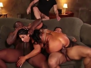 This busty babe, Raven Hart, loves sex and she enjoys getting her body covered with sticky cum. This time she will be satisfied to the fullest, as five huge dicks will eagerly stuff her wet holes from all sides... Join!