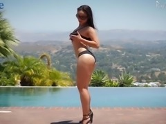 Long haired torrid Russian nympho Crystal Rush gets both holes hammered