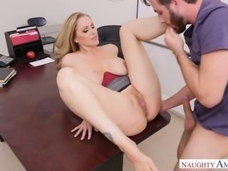 Julia Ann is damn good boss whose wet pussy is super lickable