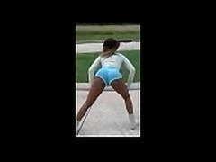 Black Teen Twerking Sexy Ass in booty shorts