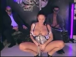 Nasty Saggy Tits Assfucked In Bar 2 Cocks