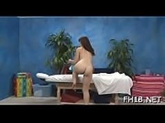 Watch as these cute 18 year old girls get a surprise cheerful ending by their massage therapist!