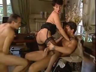 French Elodie Big Floppy tits Nasty DP Anal Stockings