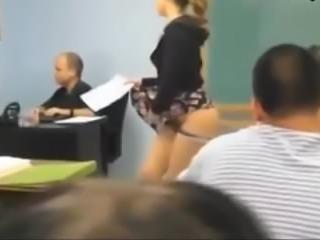 Teen Flashing In Classroom