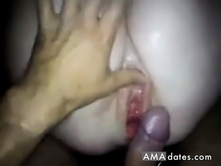 I made her squirt then cum over her pussy