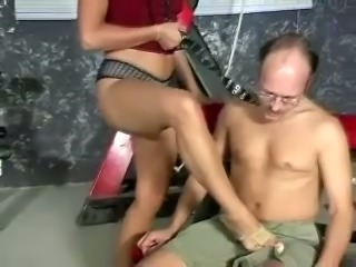 There's nothing she loves more than punishing old farts in the dungeon