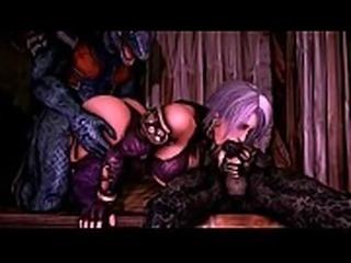 SFM Ivy Valentine X LizardMan Soulcalibur
