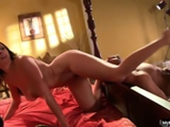 Gianna Michaels is a horny brunette with big tits who likes to get
