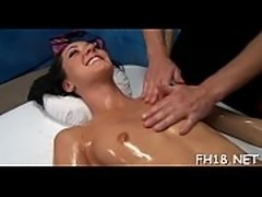 Hawt 18 year old gets screwed from behind hard by her massage therapist!