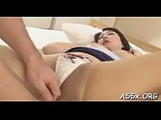 Bounded oriental gives up her anal tunnel for coarse drilling