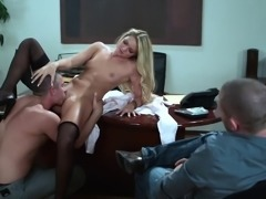 Hardcore rear banging action with blonde bombshell Jessie Andrews