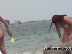 Curvy Naked Sexy Milfs Beach Voyeur Hidden VideoSpycam