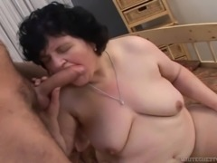 She's a fat horny granny, that drools for cock in her mouth. Elka was taking...