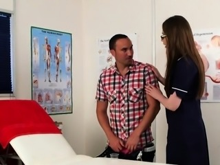 UK nurse doggystyled before cum swallowing