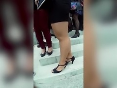 thick pantyhose girl teasing