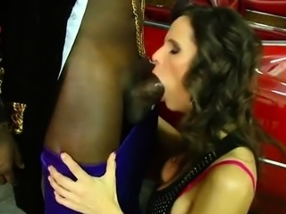 Hunky dark man enjoys a mindblowing interracial sex