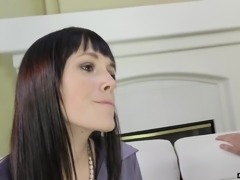 Bored housewife Savannah Fyre invites neighbor to fuck her doggy properly
