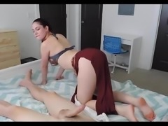 Big boob chick  in nice roleplay slave toy
