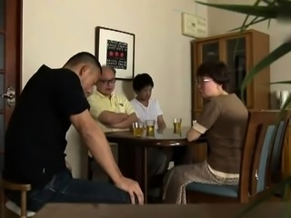 Sultry Japanese milf gets her honey hole tongued and pounded