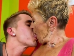 Bigtits granny spoon fucked and doggystyled