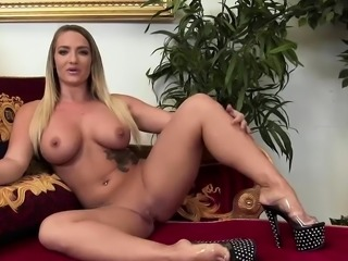 Smoking hot girls try their new toy