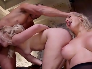 Usual sex is really boring for these busty babes, so they found Ramon Nomar and offered him to enjoy bdsm family role play together. Join and enjoy tense ffm threesome with rope bondage and anal. Hot stuff!