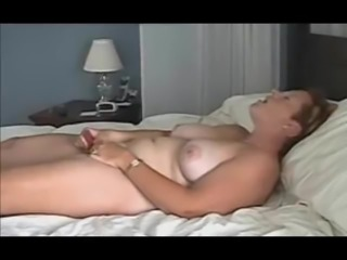 short haired milf buzzing to orgasm